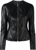 Philipp Plein fitted leather jacket - women - Lamb Skin/Viscose - S