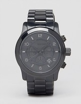 Michael Kors Oversize Black Chronograph Watch Mk8157