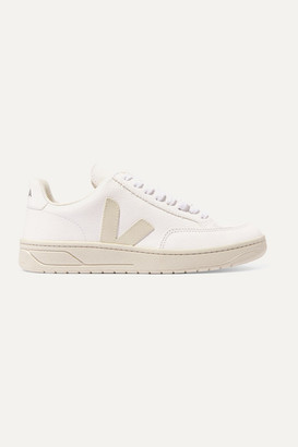 Veja V-12 Textured-leather Sneakers - White
