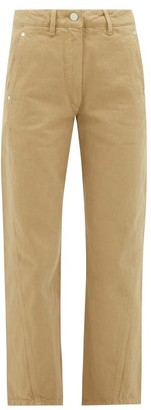 Lemaire High-rise Denim Trousers - Camel