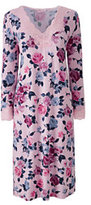 Classic Women's 3/4 Sleeve Knee Length Print Nightgown Gray Heather