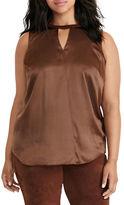 Lauren Ralph Lauren Plus Silk Sleeveless Top
