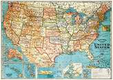 Cavallini Decorative Wrap 20X28 Usa Map