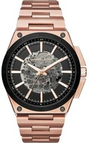 Michael Kors Wilder MK9022 Rose Gold Stainless Steel with Skeleton Dial 44mm Mens Watch