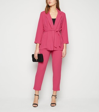 New Look Bright Scuba Tapered Suit Trousers