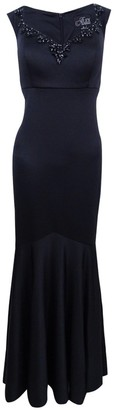 Alex Evenings Women's Long Empire Waist Off The Shoulder Dress