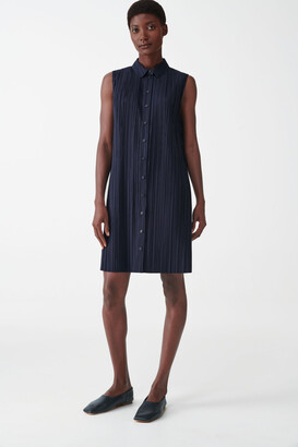 Cos Sleeveless Pleated Shirt Dress