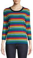 Lord & Taylor Petite Rainbow Knit Sweater