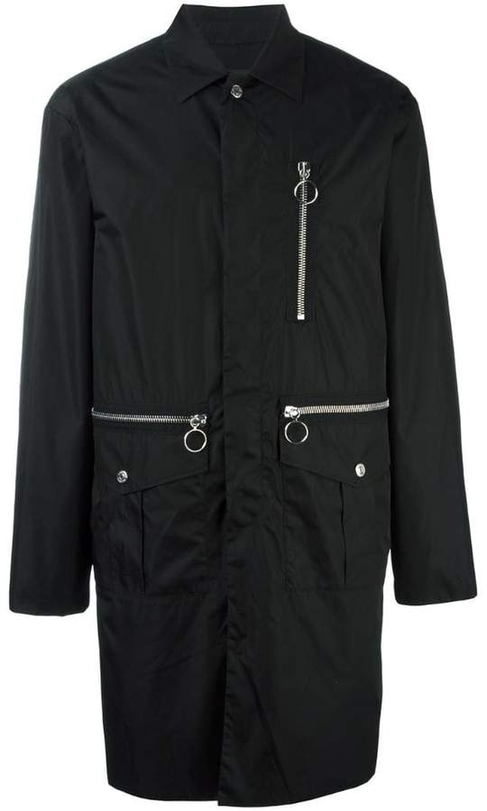 DSQUARED2 mid-length zipped parka