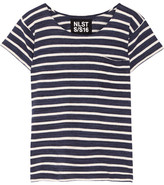 Nlst Striped Cotton-jersey T-shirt - Navy