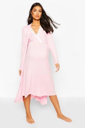 boohoo Maternity Nursing Nightie & dressing gown Set