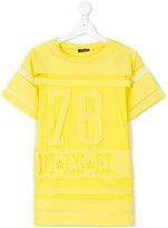 Diesel sheer panel t-shirt - kids - Cotton/Polyester - 6 yrs