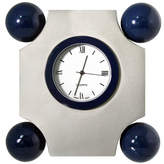 Natico Art Deco Silver Desk Clock
