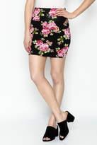 Daisy's Fashions Floral Print Mini Skirt