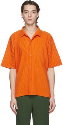 Homme Plissé Issey Miyake Orange MC July Short Sleeve Shirt