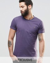 Farah T-Shirt With F Logo In Slim Fit In Fig