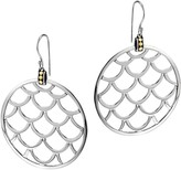 John Hardy Naga 18K Gold and Sterling Silver Large Round Earrings
