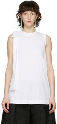 Simone Rocha White Bow Tank Top