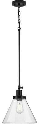 Breakwater Bay Varvara 1 - Light Single Cone Pendant Finish: Matte Black