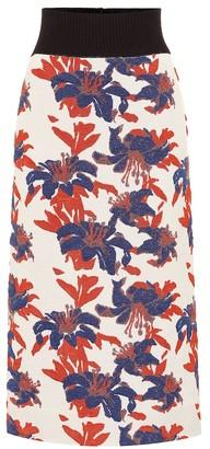 Dries Van Noten Brocade knit skirt