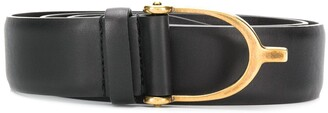 Gucci horseshoe buckle belt