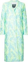 MSGM textured midi coat - women - Polyamide/Polyester/Metallic Fibre - 42