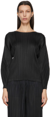 Pleats Please Issey Miyake Black Monthly Colors January Sweater
