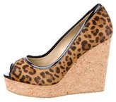 Jimmy Choo Ponyhair Platform Wedges