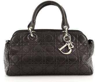 Christian Dior Lady Soft Satchel Cannage Quilt Lambskin Medium