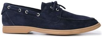 Brunello Cucinelli contrast boat shoes