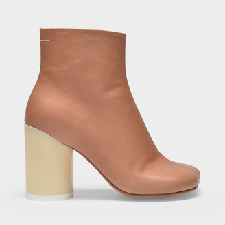 MM6 MAISON MARGIELA Ankle Boots In Brown Soft Leather