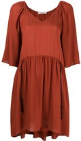 Flared V-Neck Dress