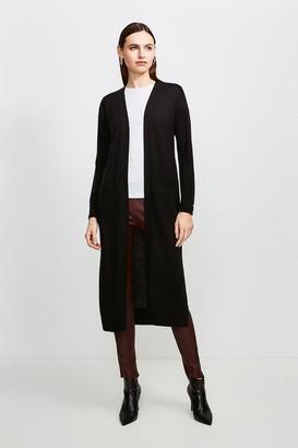 Karen Millen Merino Wool Longline Cardigan