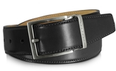 Moreschi Eton Black Leather Belt