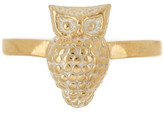 Anna Beck 18K Gold Plated Sterling Silver Owl Ring