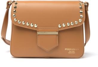 Persaman New York Piera Leather Studded Shoulder Bag