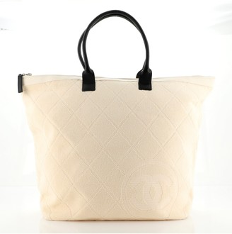 Chanel CC Zip Beach Tote Terry Cloth Large