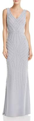 Avery G Embellished Column Gown