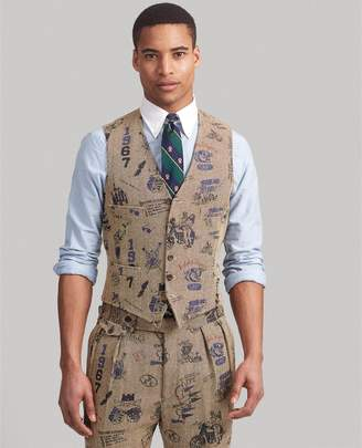Ralph Lauren Polo Herringbone Graphic Vest