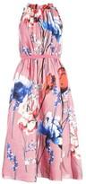 Little Mistress Elva Floral Satin Midi Dress