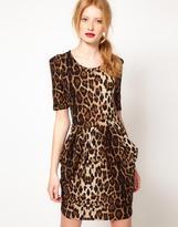 Vero Moda Leopard Print Tulip Dress
