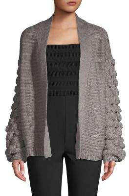 Harlow & Rose Bubble-Sleeve Knit Cardigan