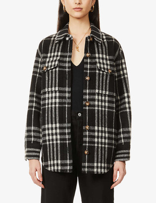 Reformation Giles checked wool-blend jacket