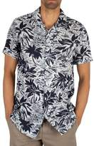 Tommy Hilfiger Men's Hawaiian Print Shortsleeved Shirt, Blue