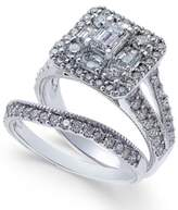 Macy's Diamond Square Cluster Bridal Set (2-1/4 ct. t.w.) in 14k White Gold