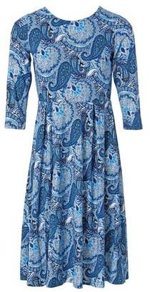 Dorothy Perkins Womens *Izabel London Blue Paisley Print 3/4 Sleeve Skater Dress, Blue