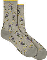 Antipast Women's Carnation-Print Cotton-Blend Mid-Calf Socks
