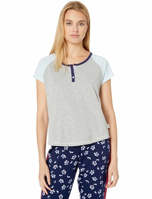 Tommy Hilfiger Women's Short Sleeve T-Shirt Pajama Top Pj