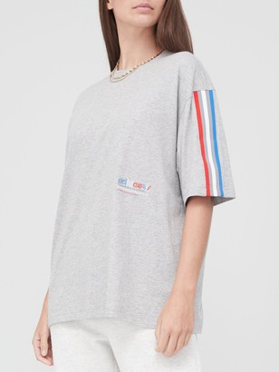 adidas Tricolor Oversized T-Shirt - Grey