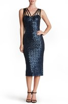 Dress the Population 'Alex' Strappy Sequin Midi Dress